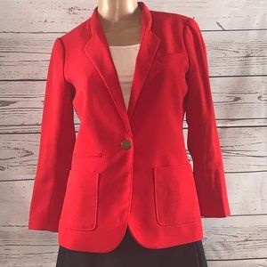 NWOT THE LIMITED Red Blazer w/3/4 Scrunch Sleeves